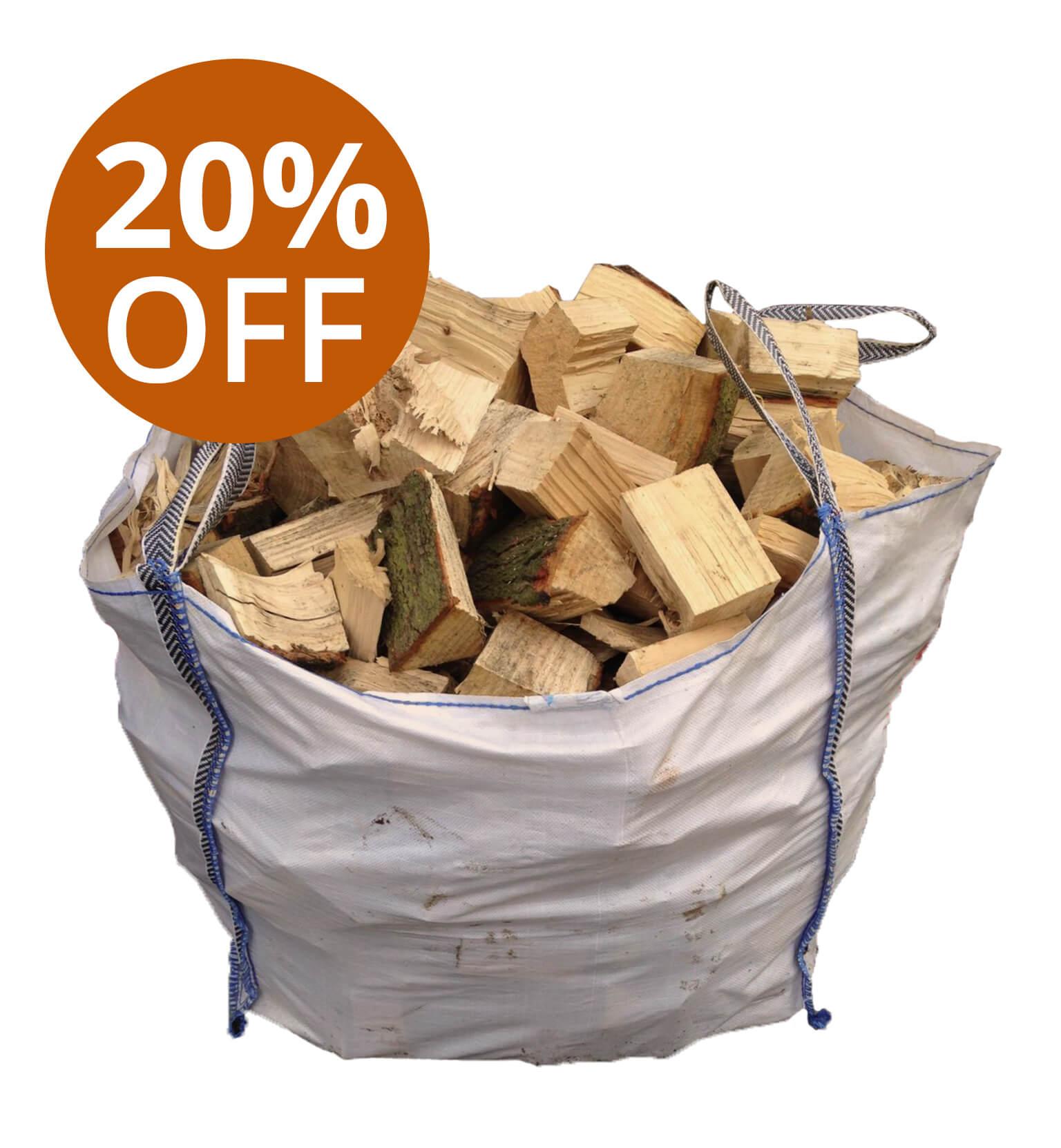 Seasoned Softwood Dumpy Bag
